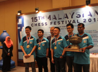 KL Chesskids Team Alpha wins 2018 ASTRO Merdeka Rapid Open Team Chess Championship 2018