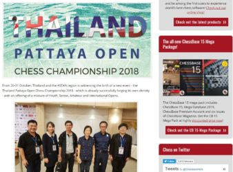 Thailand Chess introduces the brand new Pattaya Open 2018