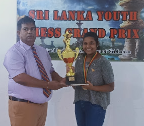 Dahamdi wins 2nd Sri Lanka Youth Girls (Under 14) Chess Grand Prix 2021.
