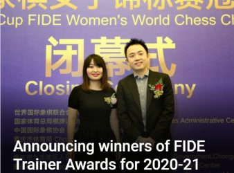 Asia Leads the FIDE Trainer Awards 2021 with Six Winners!