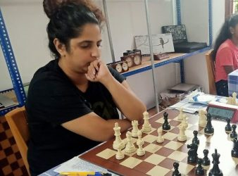 Women International Master Sachini Ranasinghe leads at the halfway Mark